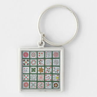 Album quilt with season flowers, 1844 key chains