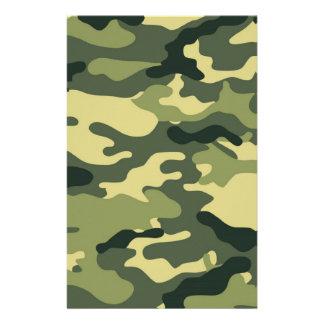 Album vert à camouflage ouvrant le papier papier à lettre customisable