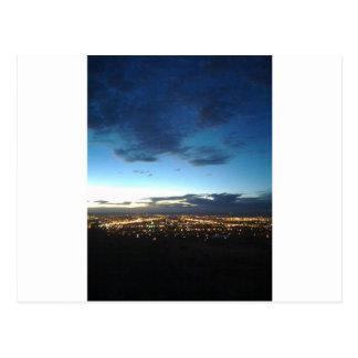 Albuquerque at nightfall postcard