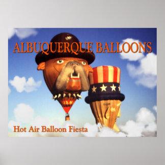 Albuquerque Balloons – Photo Art Poster