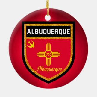 Albuquerque Flag Round Ceramic Ornament