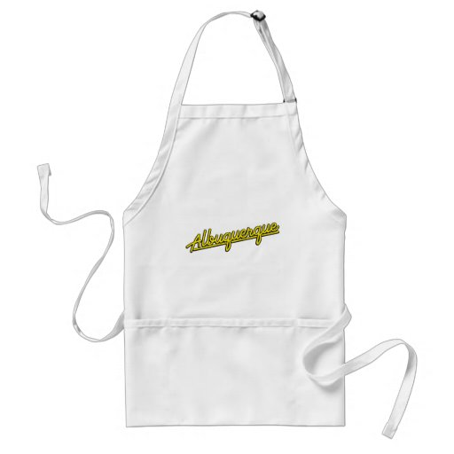 Albuquerque in yellow apron