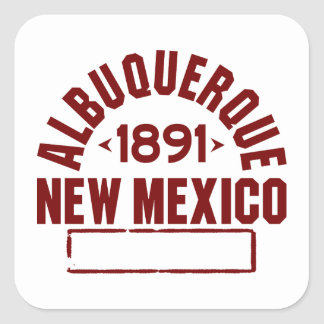 Albuquerque Inc Square Sticker