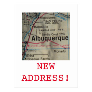 Albuquerque New Address announcement Postcard