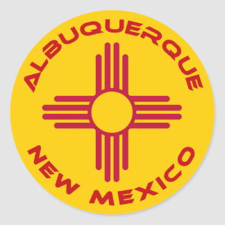Albuquerque, New Mexico Classic Round Sticker