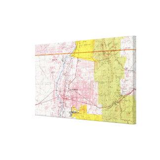 Albuquerque New Mexico Map (1978) Canvas Print