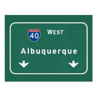 Albuquerque New Mexico nm Interstate Highway : Postcard