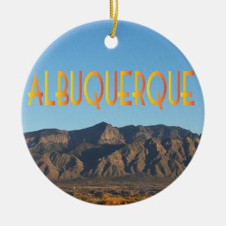 Albuquerque New Mexico Round Ceramic Ornament