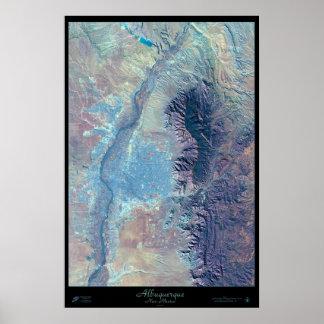 Albuquerque, New Mexico satellite poster