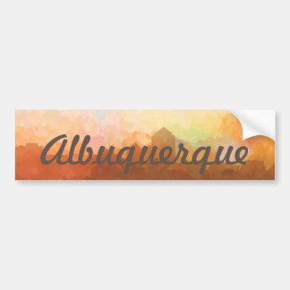 Albuquerque New Mexico Skyline IN CLOUDS Bumper Sticker