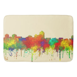 Albuquerque New Mexico Skyline-SG Bath Mat
