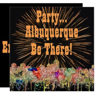 Albuquerque New Mexico Skyline SG Faded Glory Card