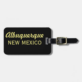 Albuquerque New Mexico Skyline-SG Luggage Tag