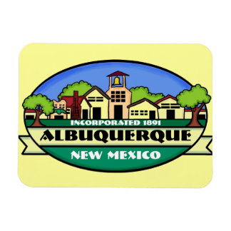 Albuquerque New Mexico town souvenir magnet