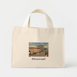 Albuquerque, New Mexico Vintage Style Mini Tote Bag