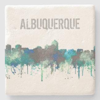 ALBUQUERQUE, NM SKYLINE -SG JUNGLE -Stone Coasters