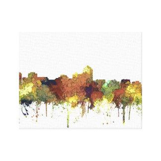 Albuquerque, NM Skyline - SG - Safari Buff Canvas Print