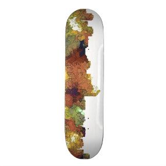 Albuquerque, NM Skyline - SG - Safari Buff Skate Board