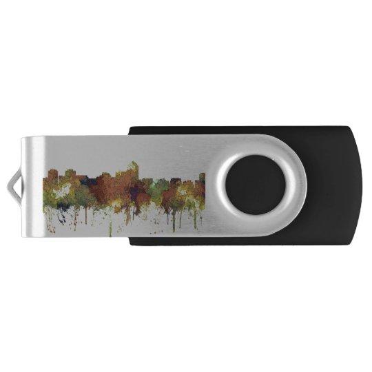 Albuquerque, NM Skyline - SG - Safari Buff Swivel USB 2.0 Flash Drive