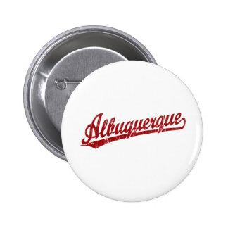 Albuquerque script logo in red pins