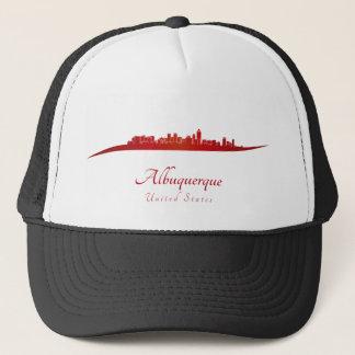 Albuquerque skyline in network trucker hat