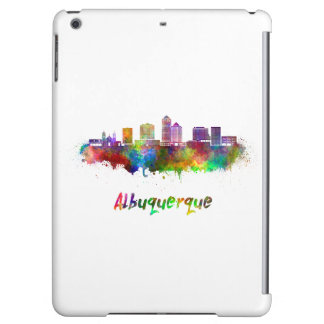 Albuquerque skyline in watercolor cover for iPad air