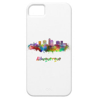 Albuquerque skyline in watercolor iPhone 5 covers