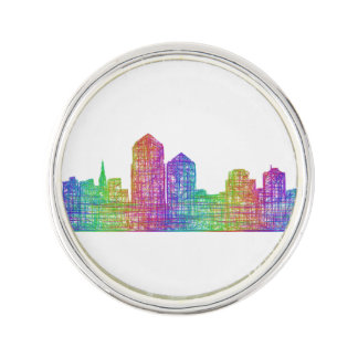 Albuquerque skyline lapel pin