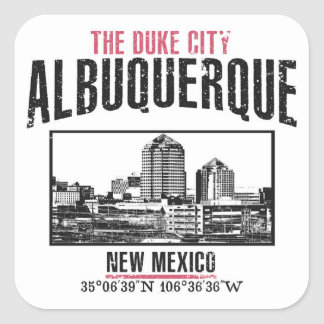 Albuquerque Square Sticker