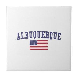 Albuquerque US Flag Tile