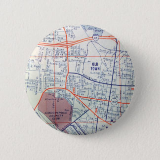 ALBUQUERQUE Vintage Map 2 Inch Round Button