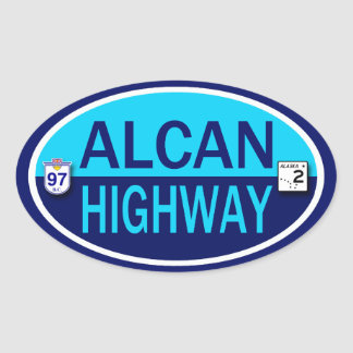 Alcan Highway Oval Sticker