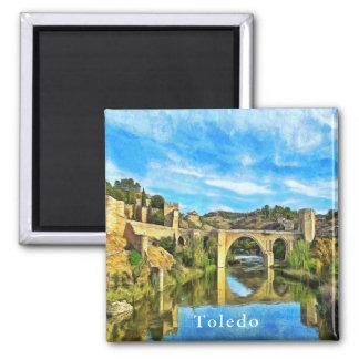 Alcantara Bridge in Toledo. Magnet
