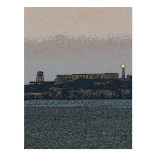 Alcatraz at Dusk Postcard