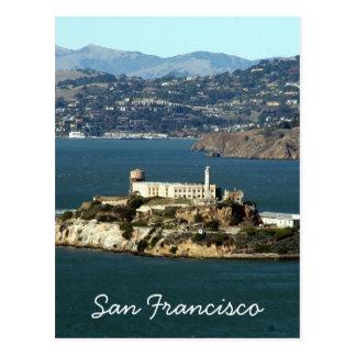 alcatraz bay san fran postcard