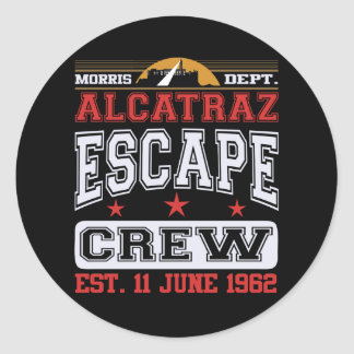 Alcatraz Escape Crew (Est. 11 June 1962) Classic Round Sticker