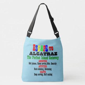 Alcatraz humor crossbody bag