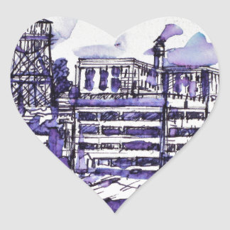 ALCATRAZ ISLAND HEART STICKER