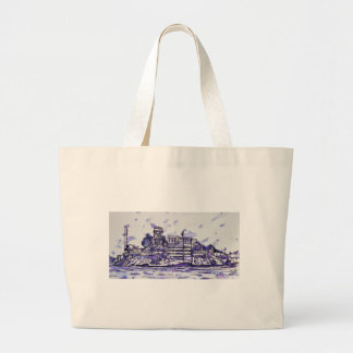 ALCATRAZ ISLAND LARGE TOTE BAG