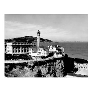 Alcatraz Island Lighthouse Postcard