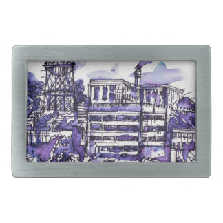 ALCATRAZ ISLAND RECTANGULAR BELT BUCKLES