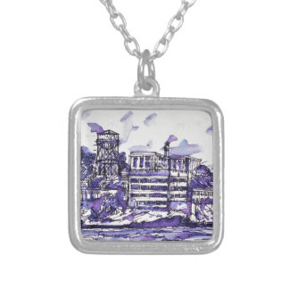 ALCATRAZ ISLAND SILVER PLATED NECKLACE