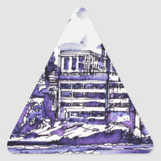 ALCATRAZ ISLAND TRIANGLE STICKER