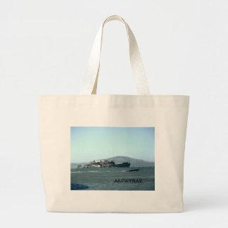 Alcatraz prison large tote bag