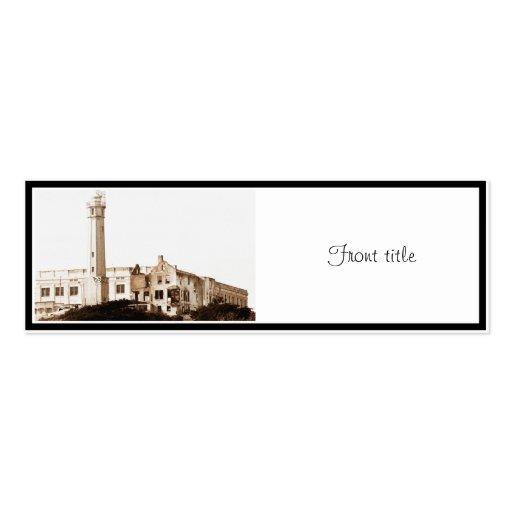 Alcatraz Prison (Sepia Tones) Business Card Template