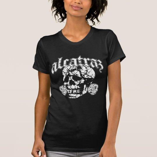 Alcatraz Skull Design Logo black T-shirt