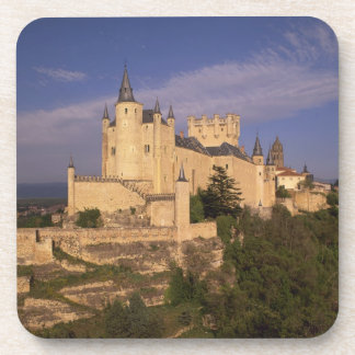 Alcazar and Cathedral, Segovia, Castile Leon, Drink Coaster