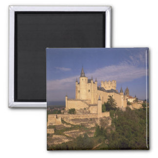 Alcazar and Cathedral, Segovia, Castile Leon, Square Magnet