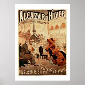 Alcazar d'hiver Vintage Paris Cafe Poster