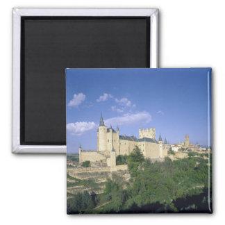Alcazar, Segovia, Castile Leon, Spain 2 Square Magnet